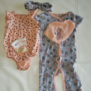 5 pc. Jessica Simpson Baby Girl Size 3-6 mos.